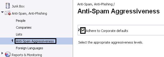 Hur ändrar jag aggressiviteten på anti SPAM systemet